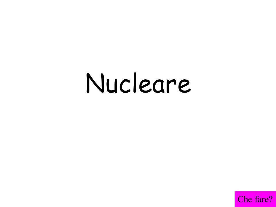 Nucleare Che fare