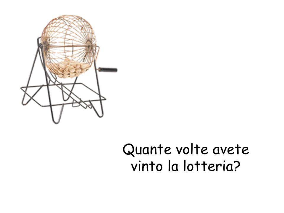 Quante volte avete vinto la lotteria