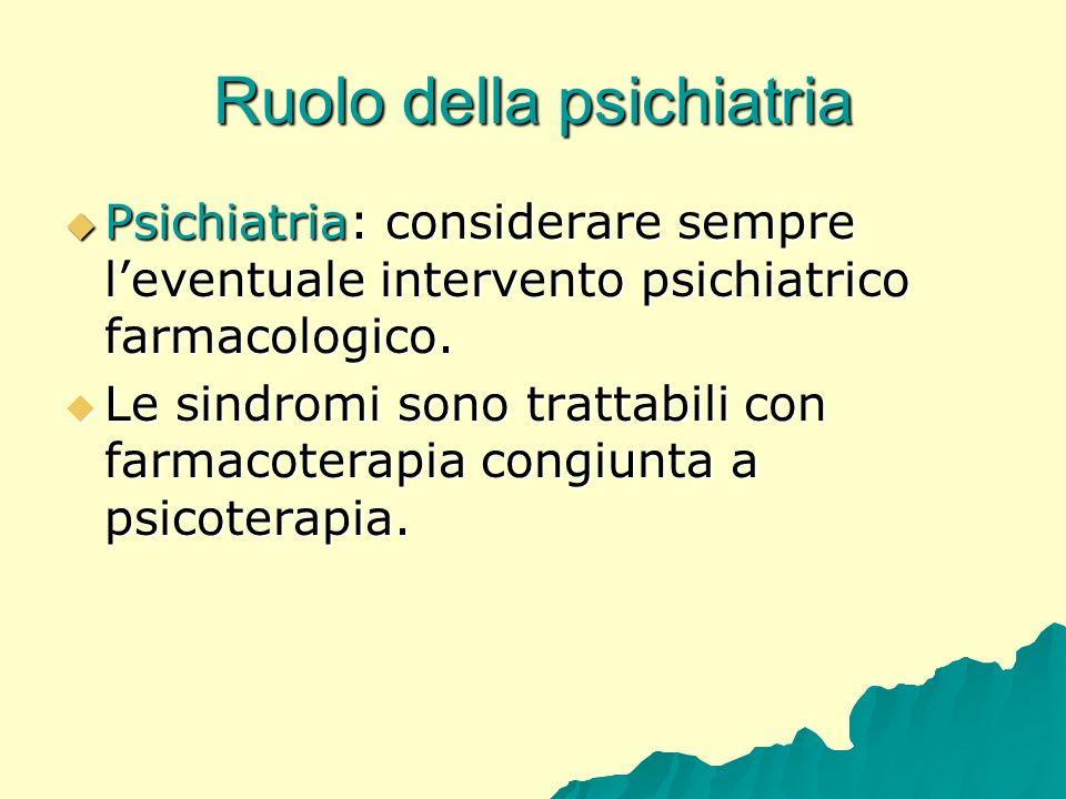 Ruolo della psichiatria