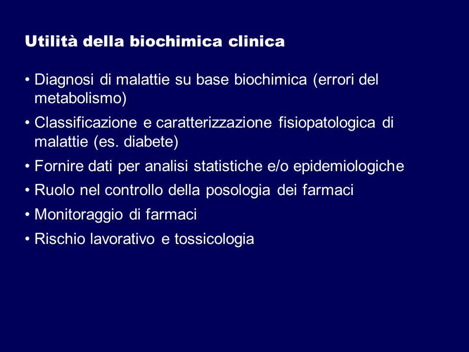 Utilità della biochimica clinica