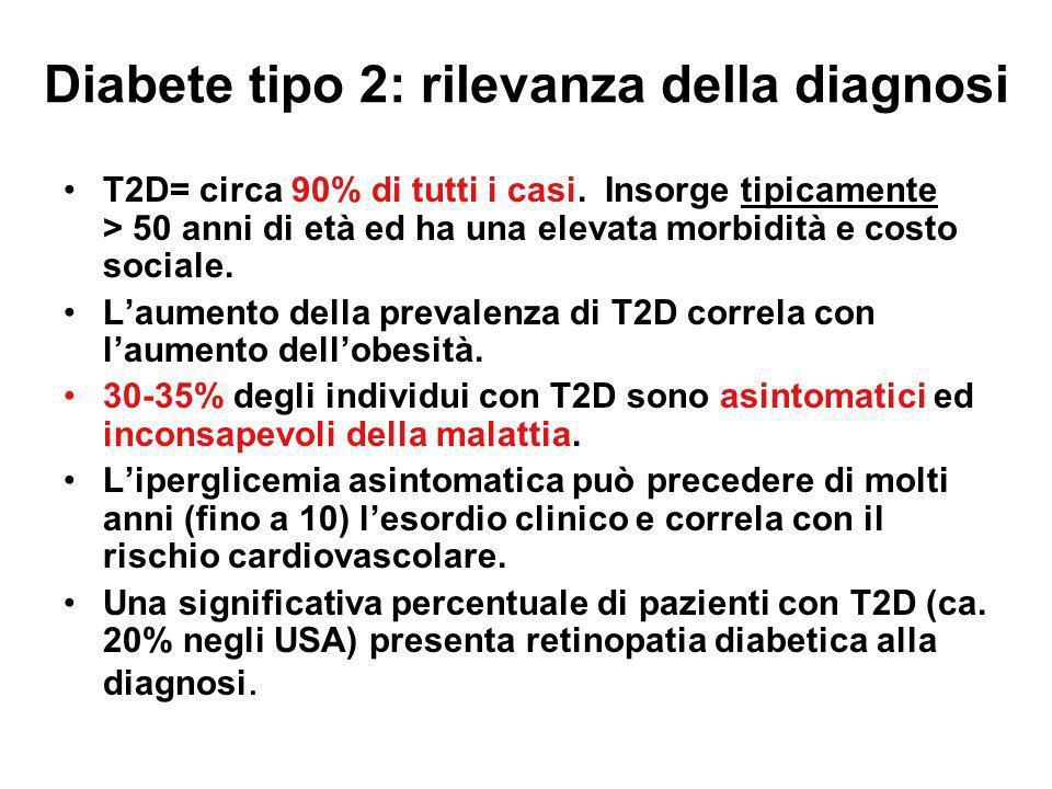 Diabete tipo 2: rilevanza della diagnosi
