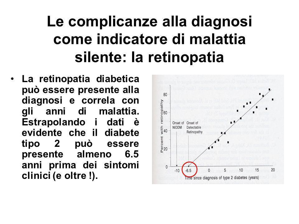 Le complicanze alla diagnosi come indicatore di malattia silente: la retinopatia