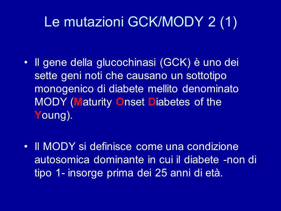 Le mutazioni GCK/MODY 2 (1)