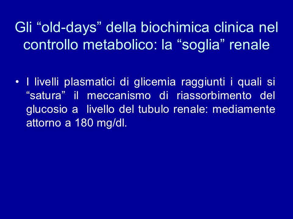 Gli old-days della biochimica clinica nel controllo metabolico: la soglia renale