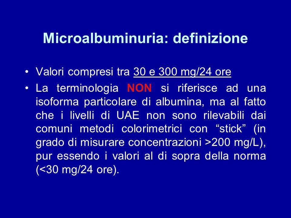 Microalbuminuria: definizione