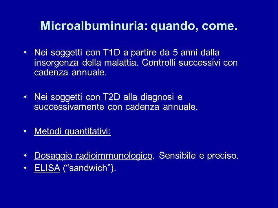 Microalbuminuria: quando, come.