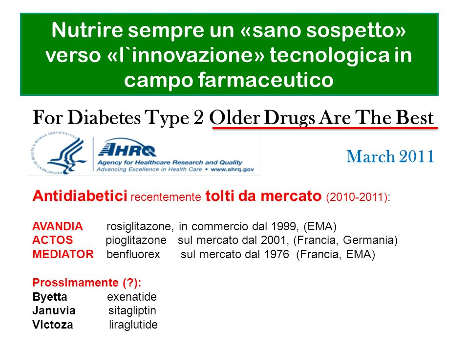 For Diabetes Type 2 Older Drugs Are The Best