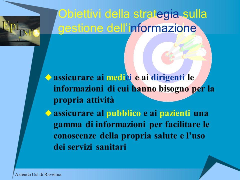 Obiettivi della strategia sulla gestione dell'informazione