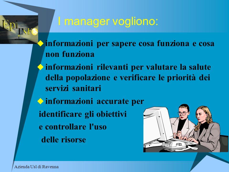 I manager vogliono: informazioni per sapere cosa funziona e cosa non funziona.