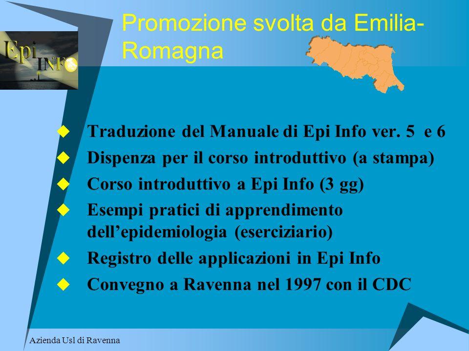 Promozione svolta da Emilia-Romagna