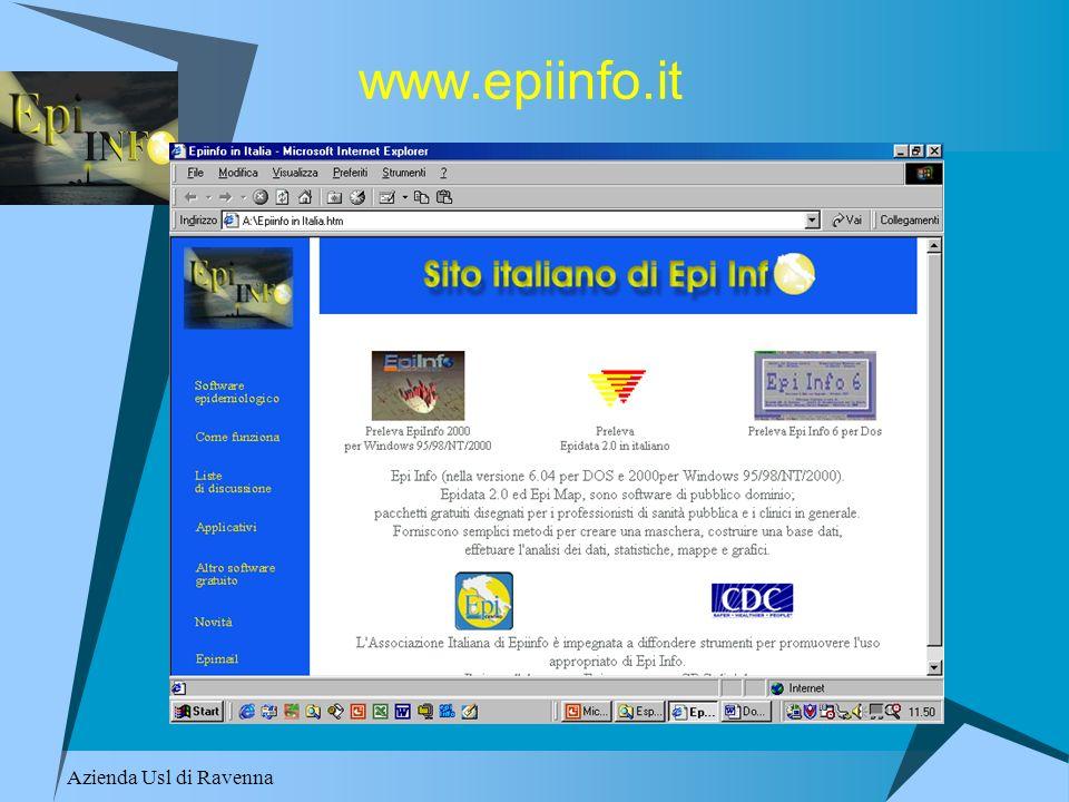 www.epiinfo.it Azienda Usl di Ravenna