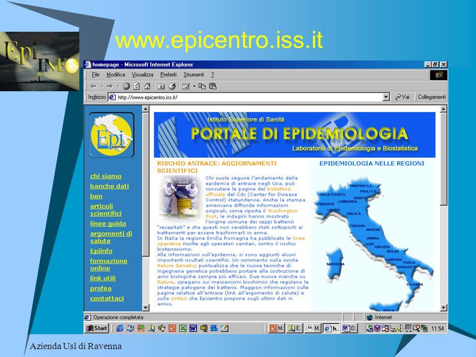 www.epicentro.iss.it Azienda Usl di Ravenna