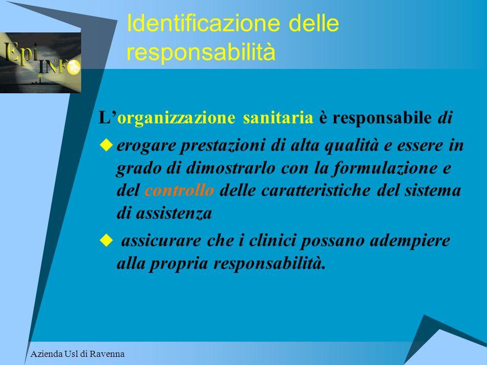 Identificazione delle responsabilità