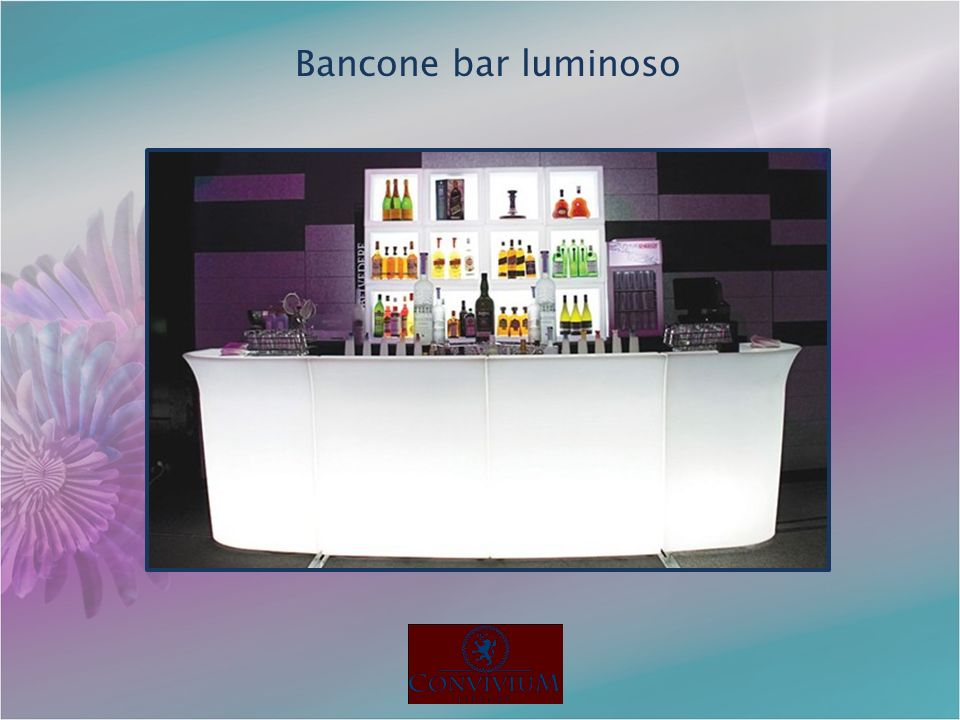 Bancone bar luminoso