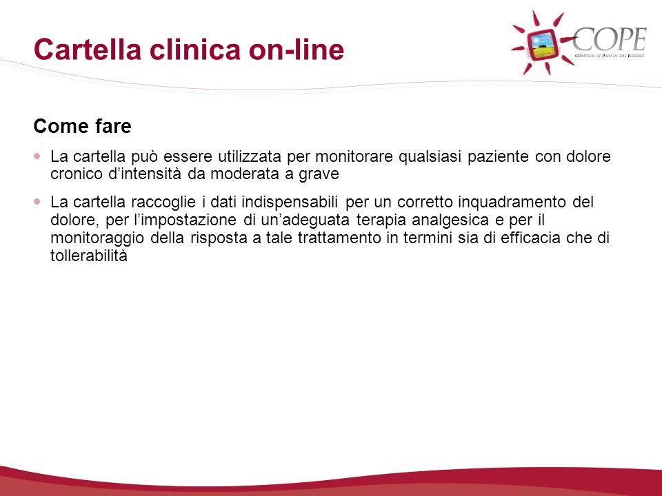 Cartella clinica on-line