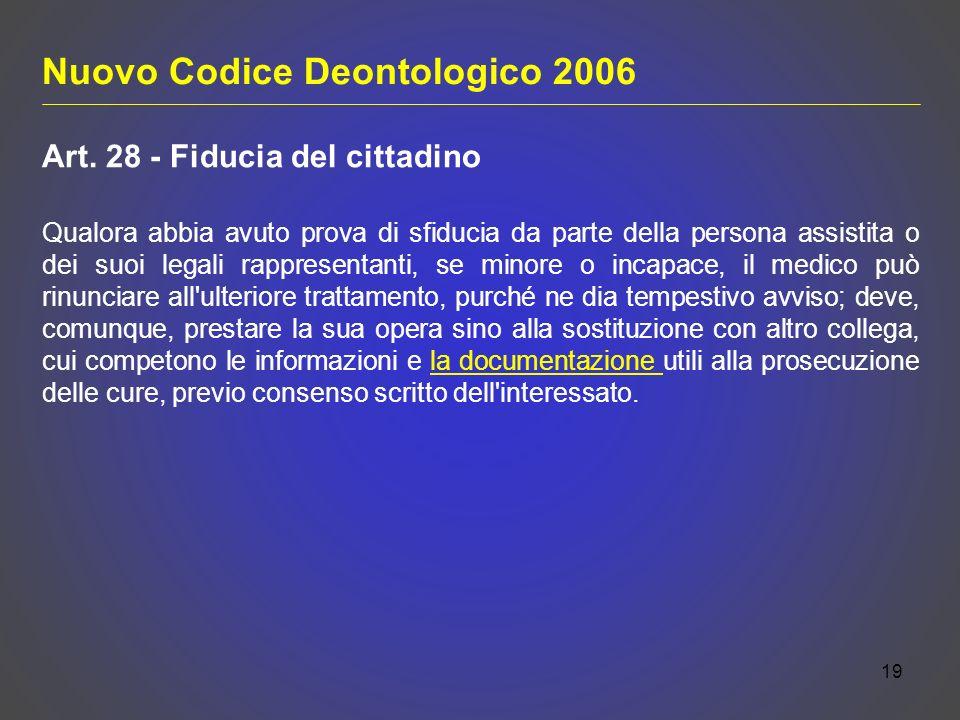 Nuovo Codice Deontologico 2006