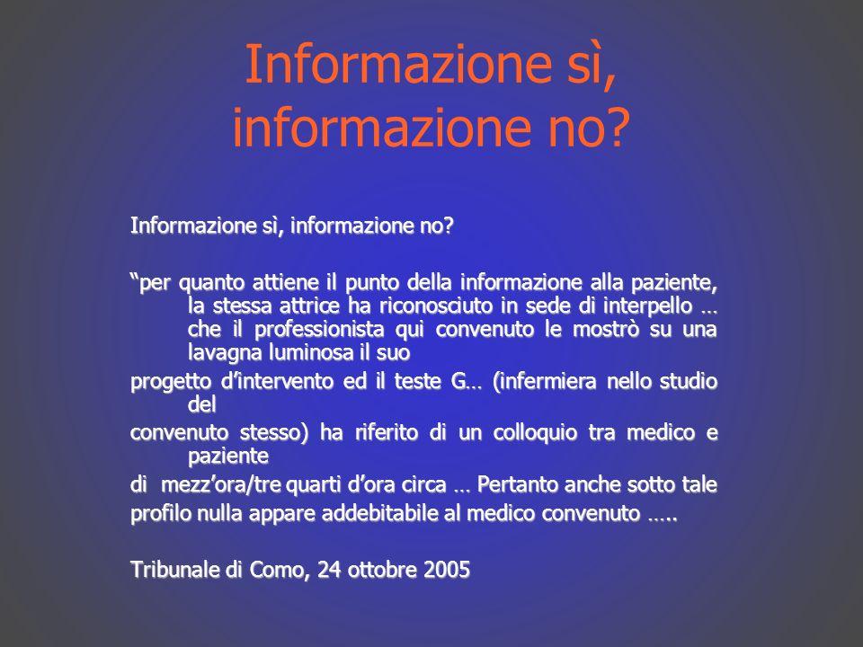 Informazione sì, informazione no