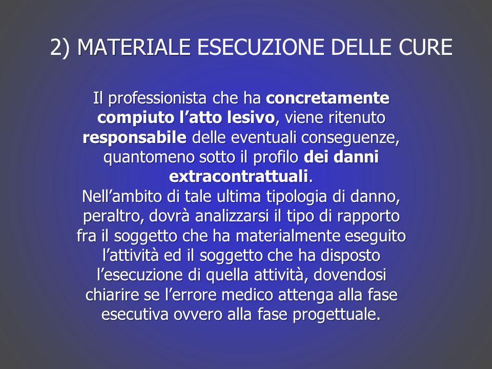 2) MATERIALE ESECUZIONE DELLE CURE