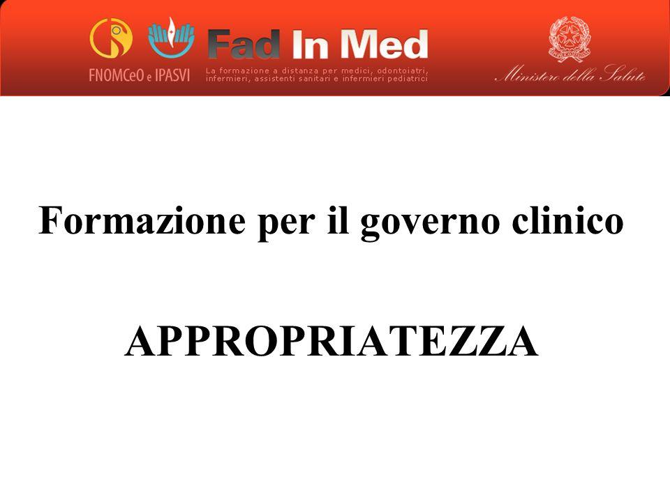 Formazione per il governo clinico