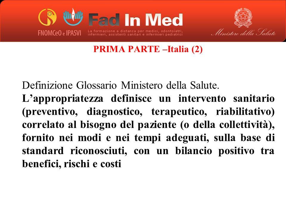 PRIMA PARTE –Italia (2)