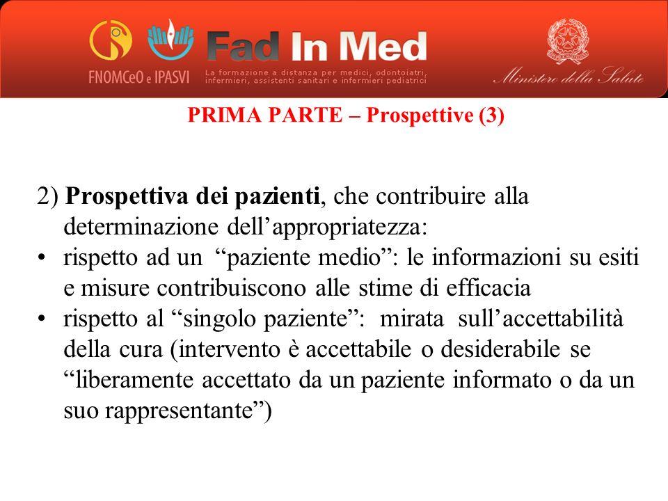 PRIMA PARTE – Prospettive (3)