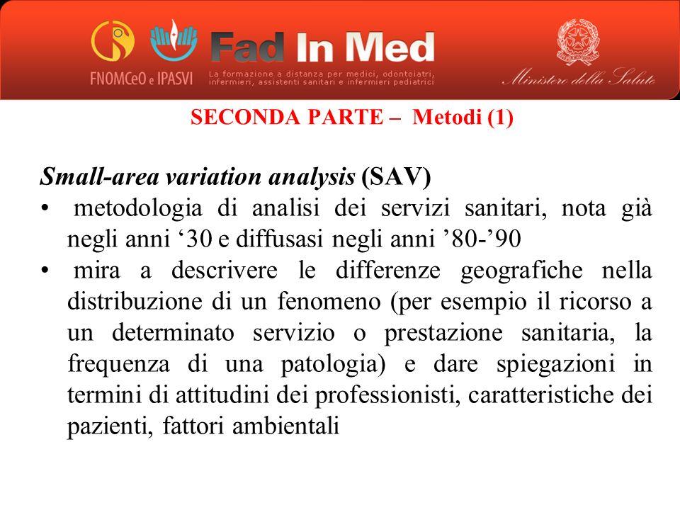 SECONDA PARTE – Metodi (1)