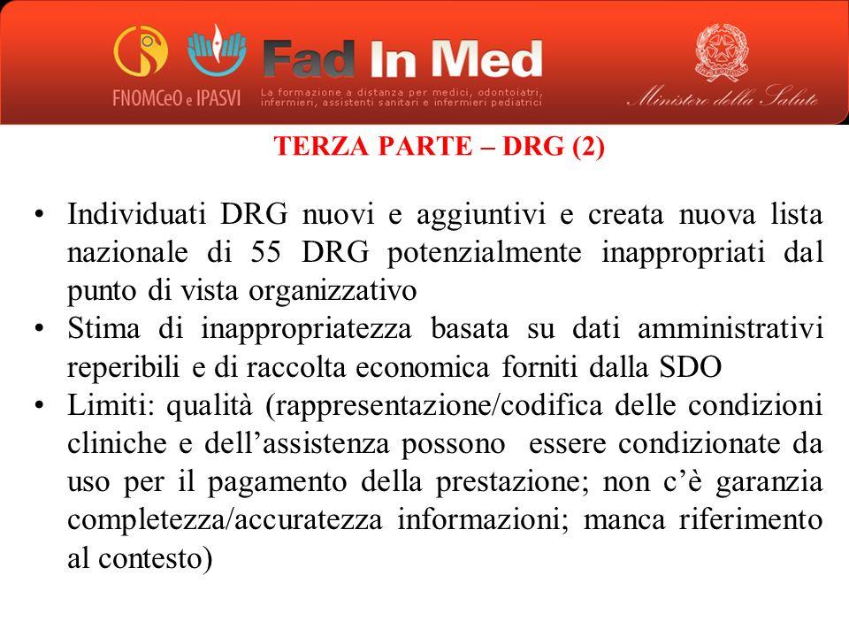TERZA PARTE – DRG (2)
