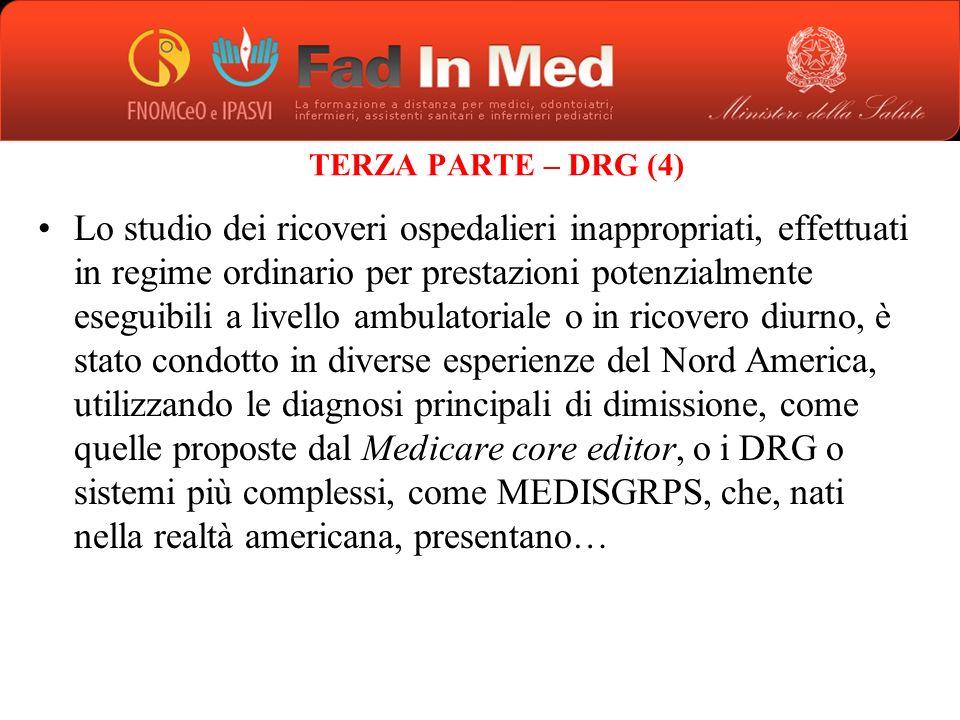 TERZA PARTE – DRG (4)