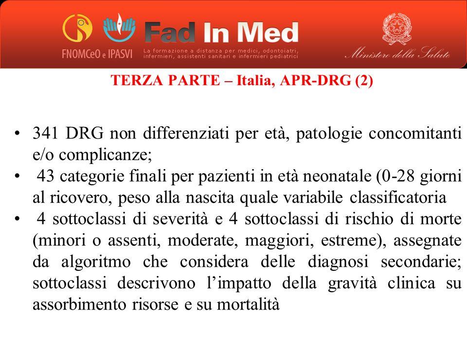 TERZA PARTE – Italia, APR-DRG (2)