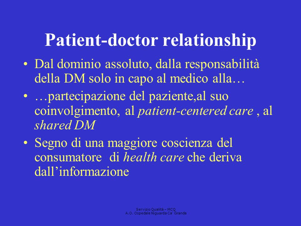 Patient-doctor relationship