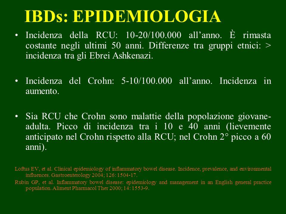 IBDs: EPIDEMIOLOGIA