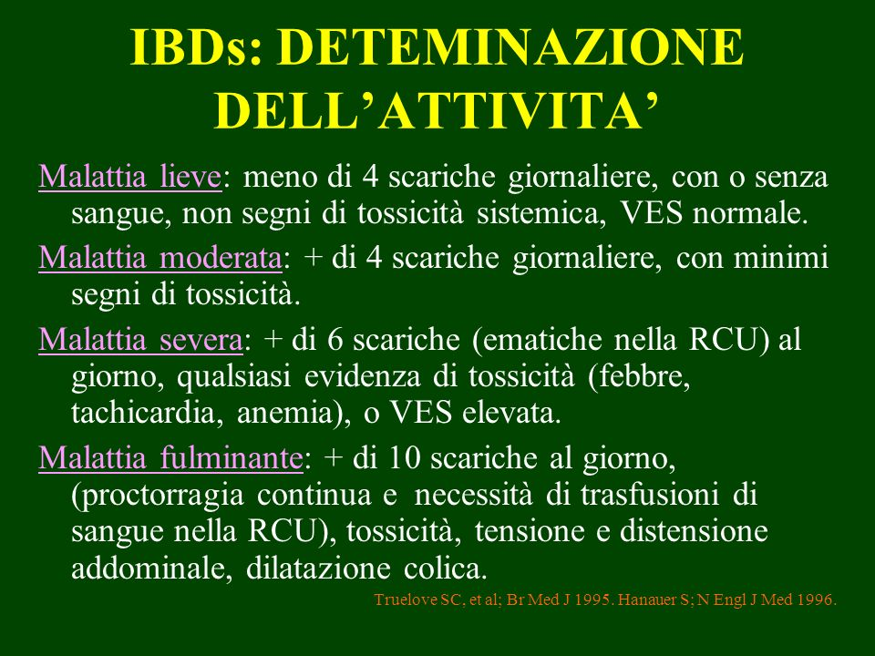 IBDs: DETEMINAZIONE DELL'ATTIVITA'