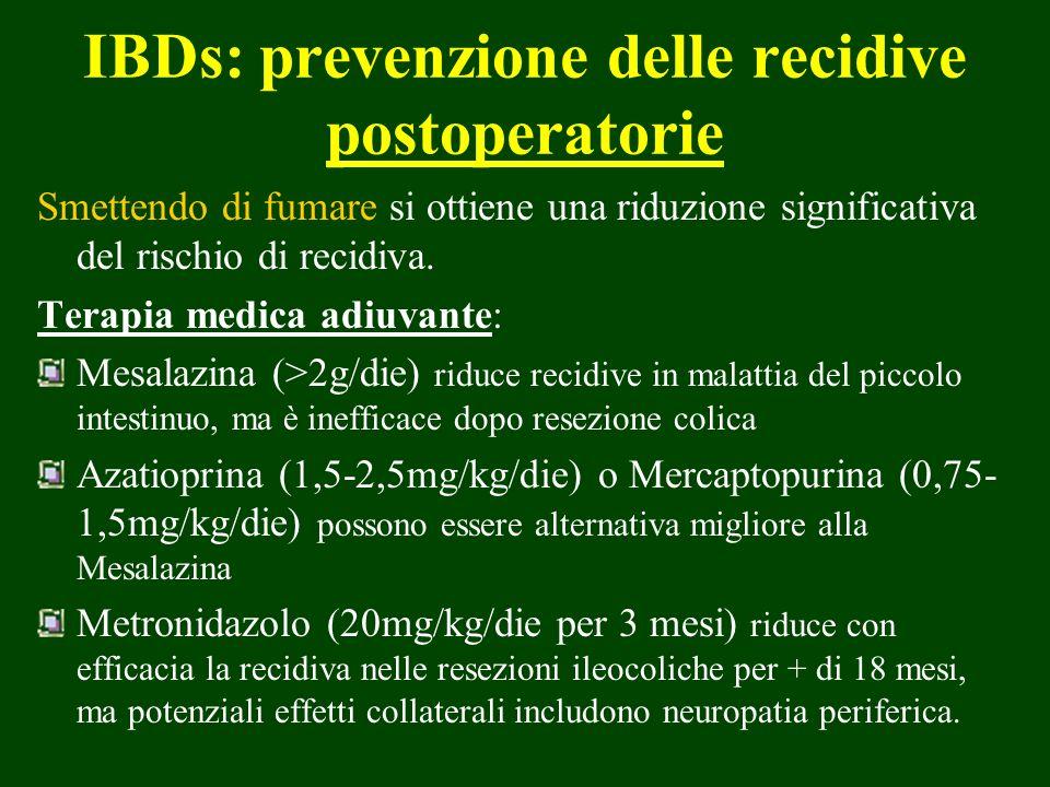 IBDs: prevenzione delle recidive postoperatorie