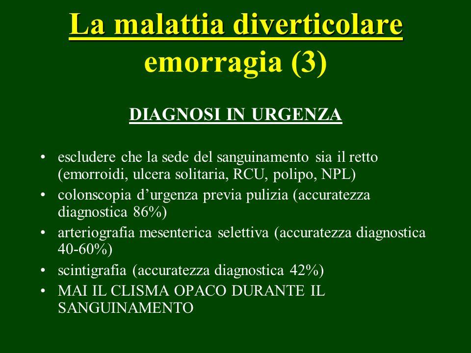 La malattia diverticolare emorragia (3)