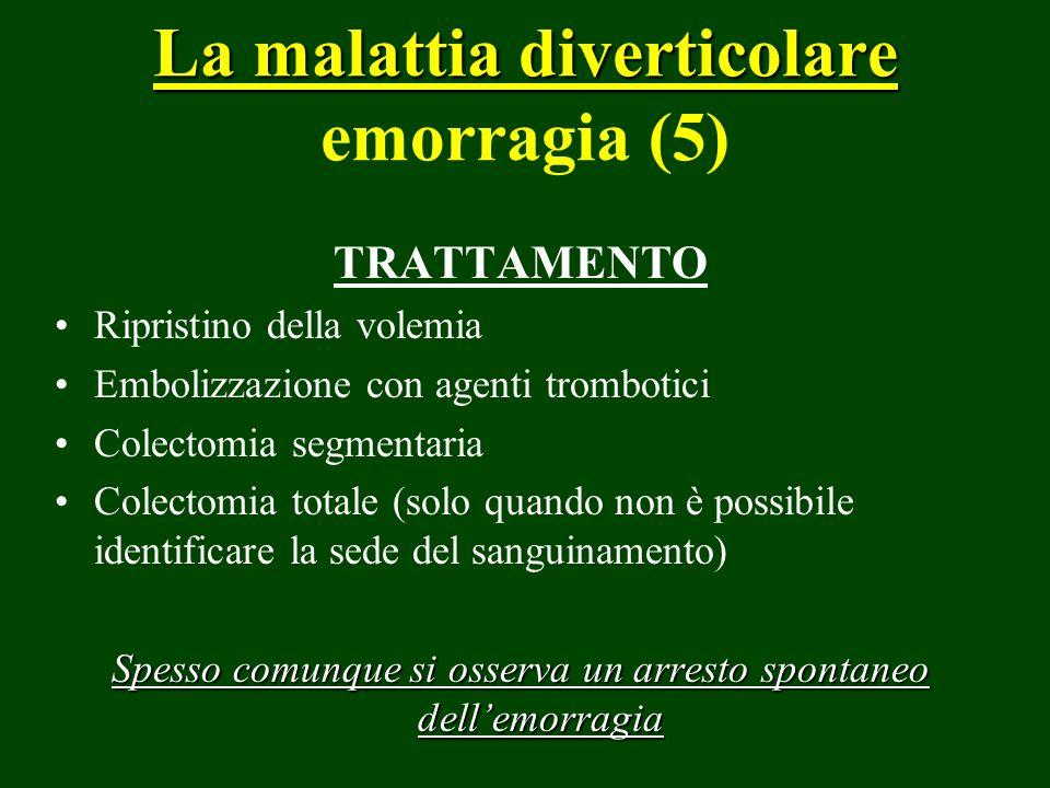 La malattia diverticolare emorragia (5)