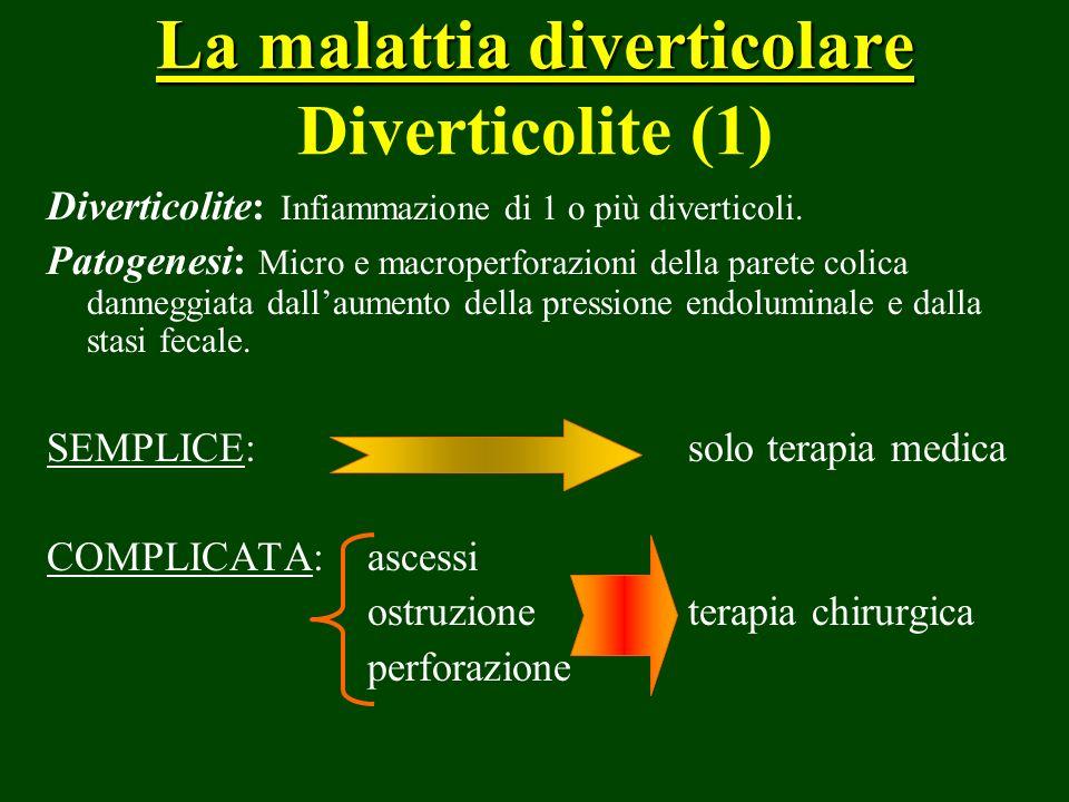 La malattia diverticolare Diverticolite (1)
