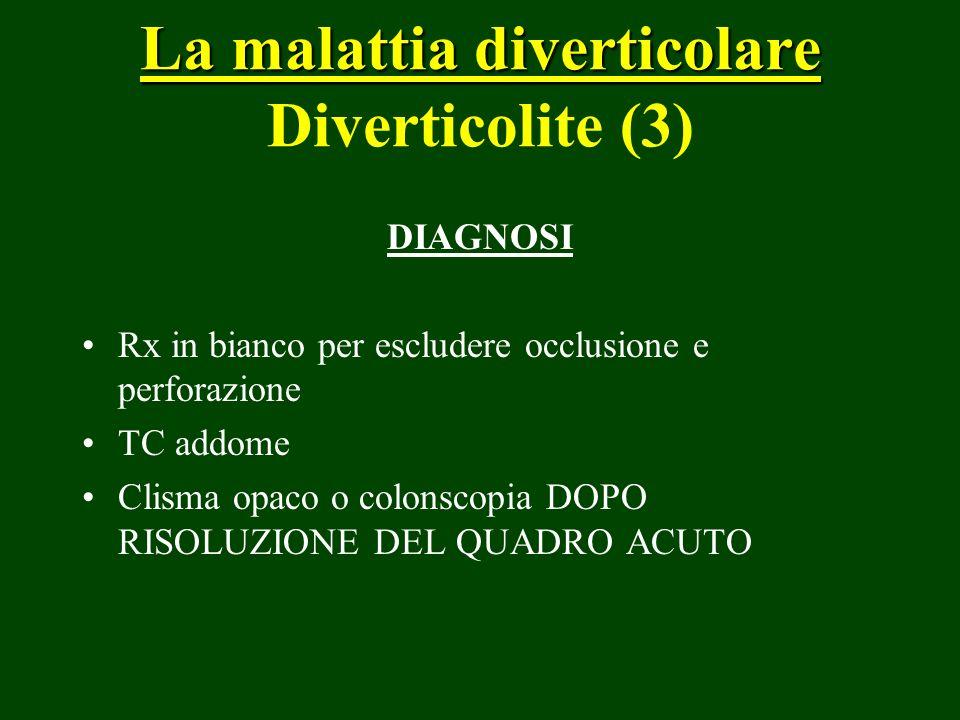 La malattia diverticolare Diverticolite (3)