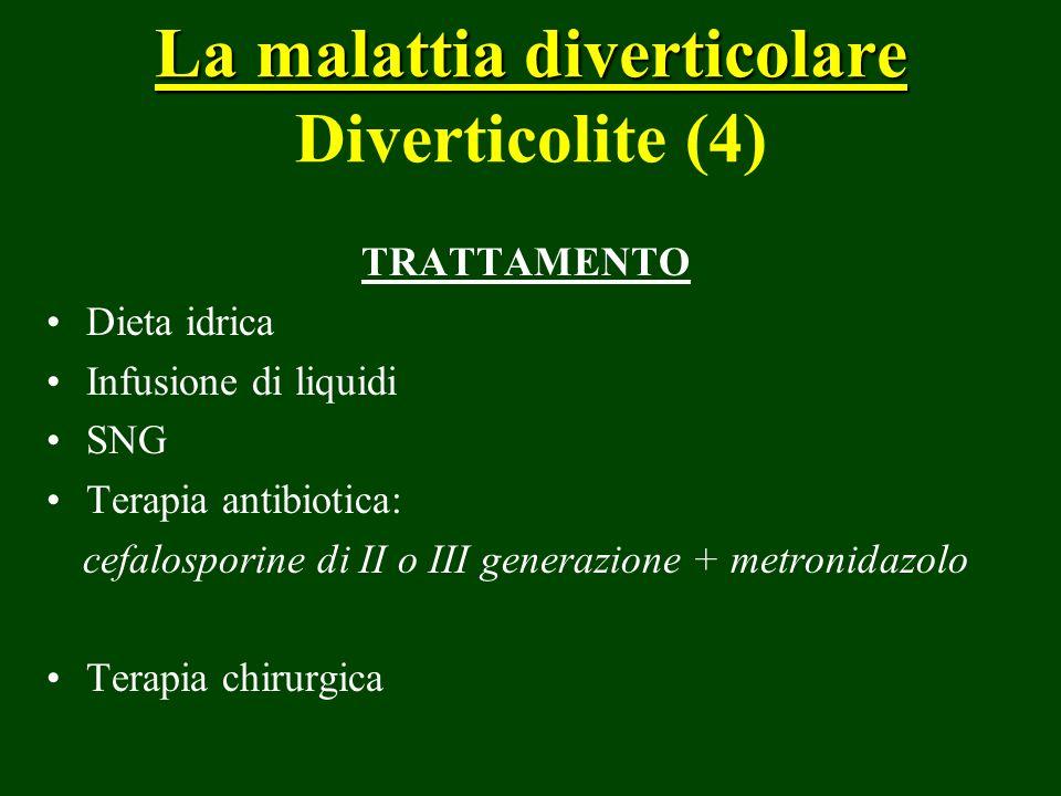 La malattia diverticolare Diverticolite (4)