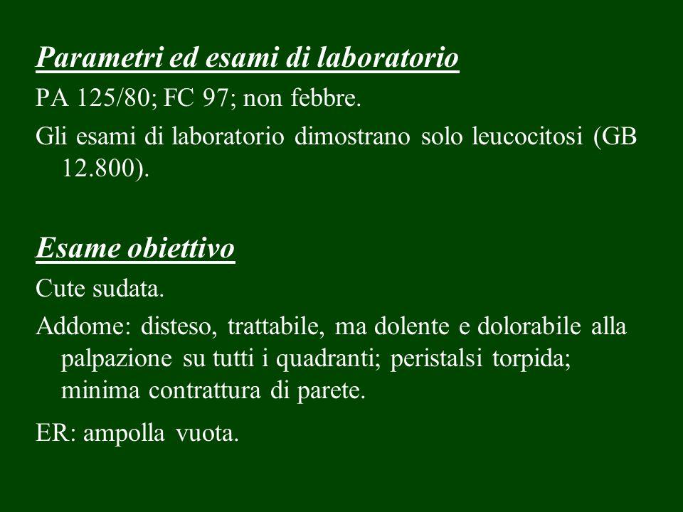 Parametri ed esami di laboratorio