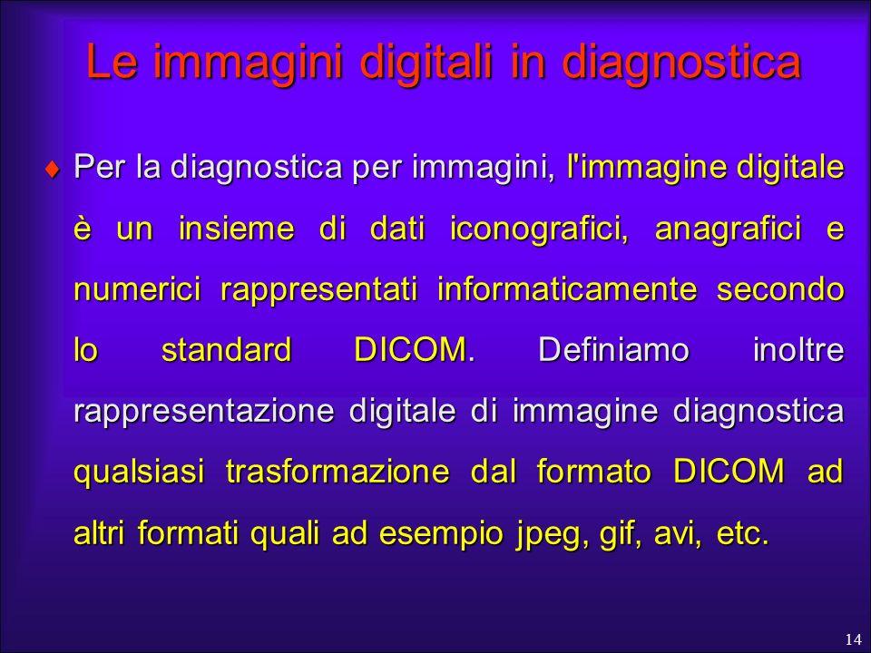 Le immagini digitali in diagnostica