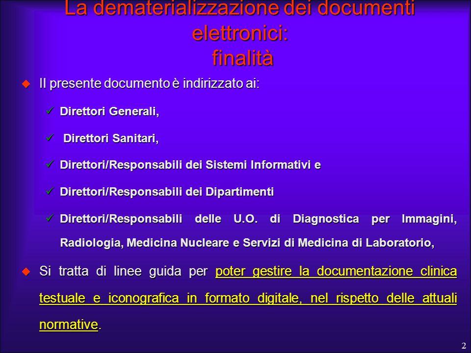 La dematerializzazione dei documenti elettronici: finalità