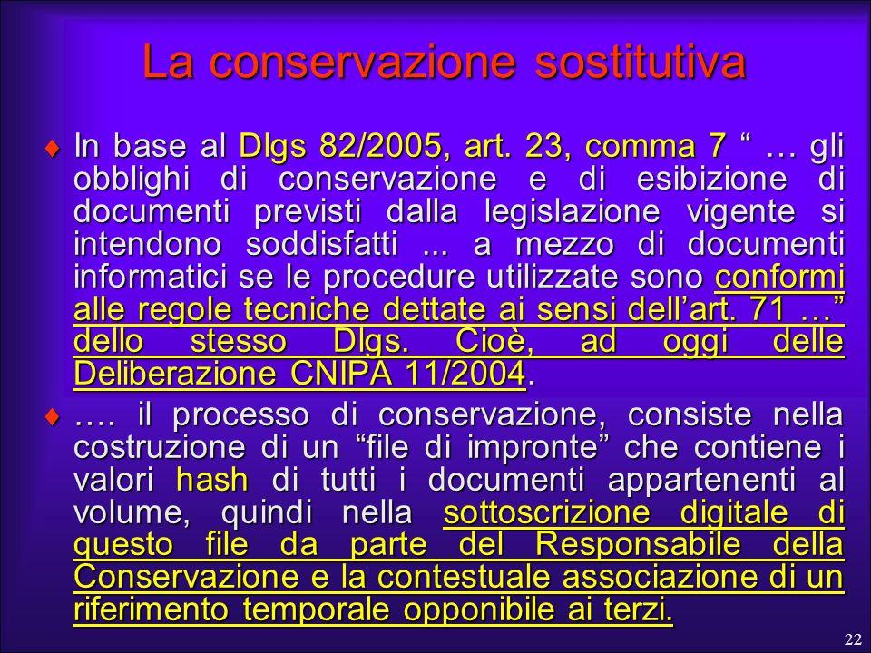 La conservazione sostitutiva