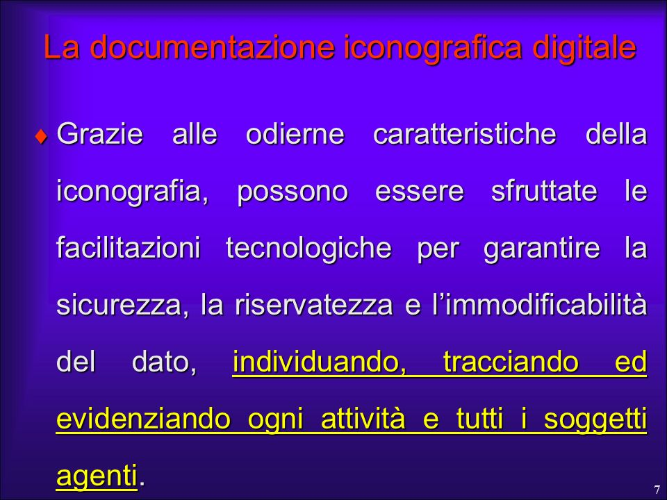 La documentazione iconografica digitale