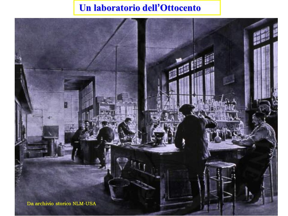 Un laboratorio dell'Ottocento