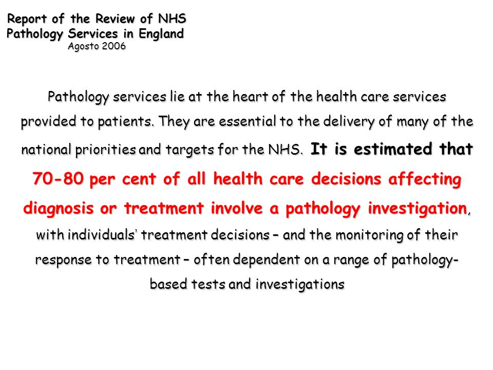 Report of the Review of NHS
