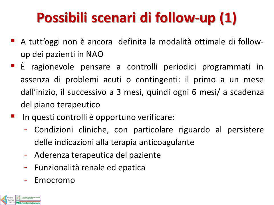 Possibili scenari di follow-up (1)