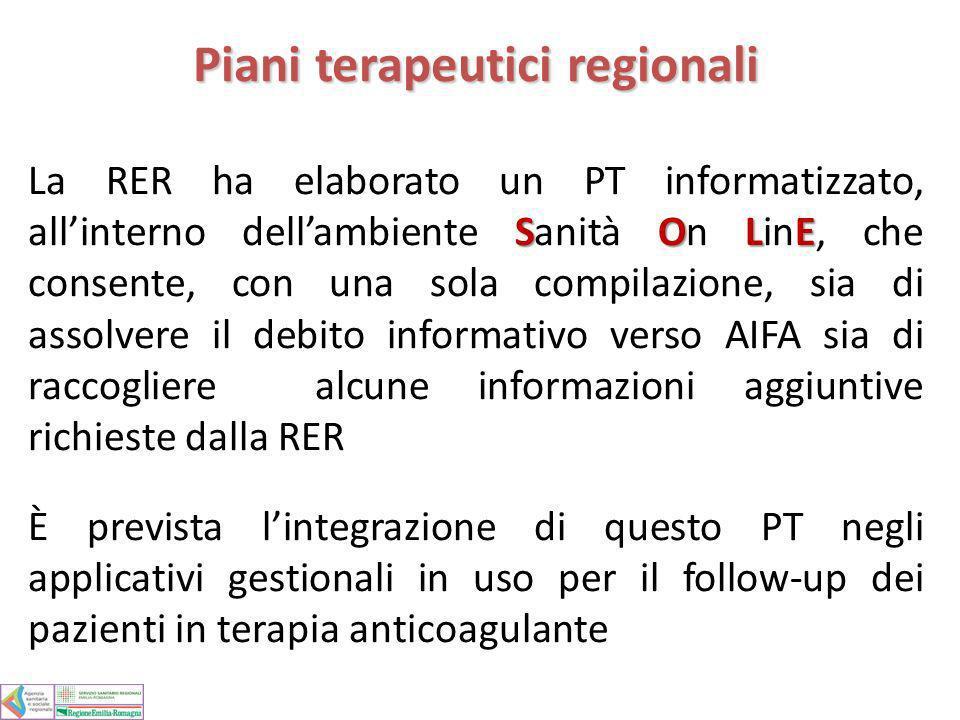 Piani terapeutici regionali