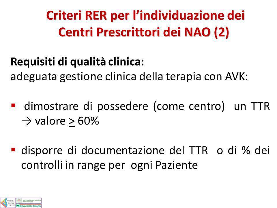 Criteri RER per l'individuazione dei Centri Prescrittori dei NAO (2)