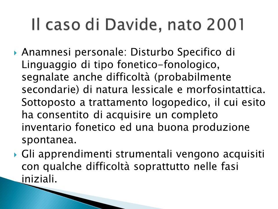 Il caso di Davide, nato 2001