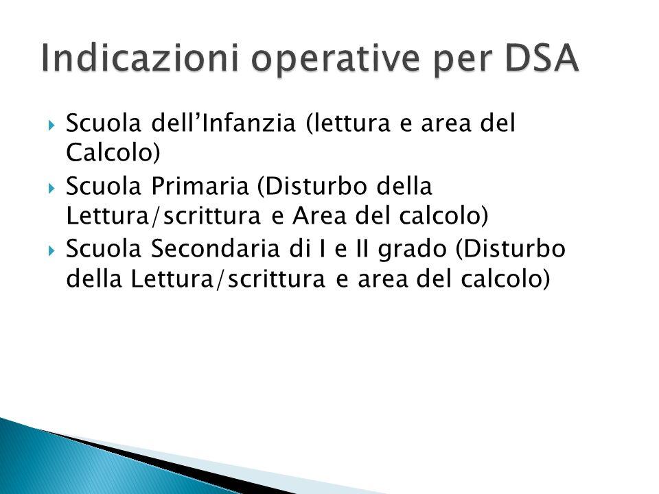 Indicazioni operative per DSA